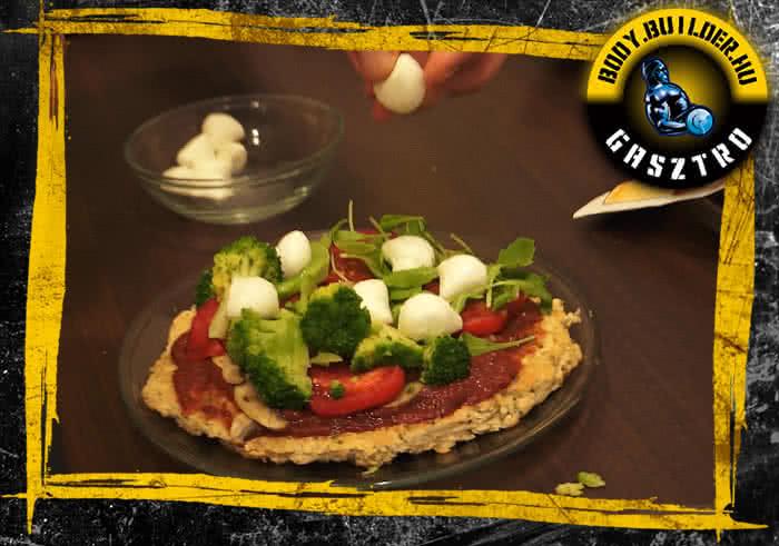 Diétás pizza elkészítés - VIII. lépés