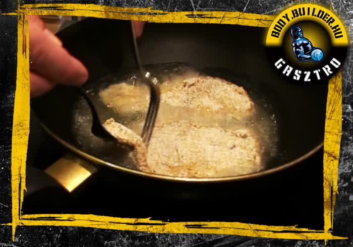 Diétás rántott hús elkészítés - VII. lépés