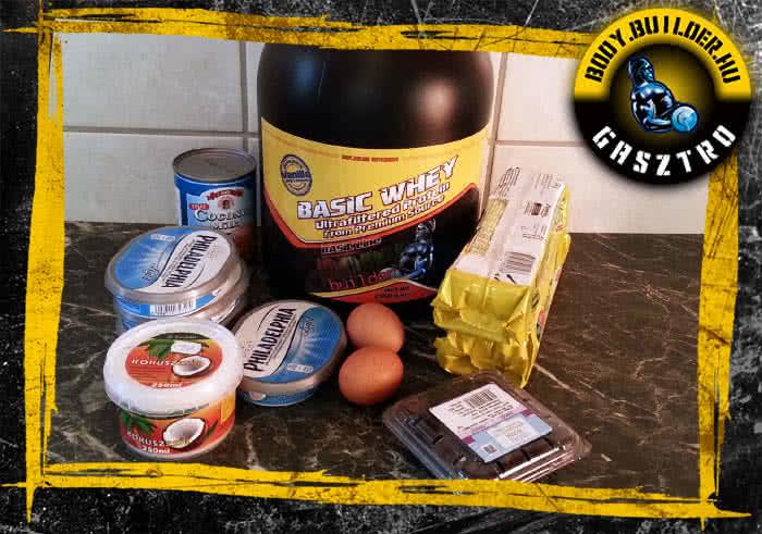 Hozzávalók - proteines sajttorta