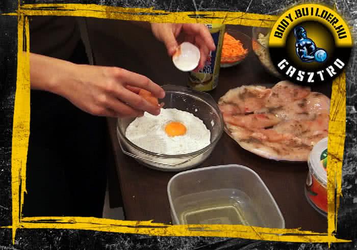 Sörtésztában sült csirkemell elkészítés - I. lépés