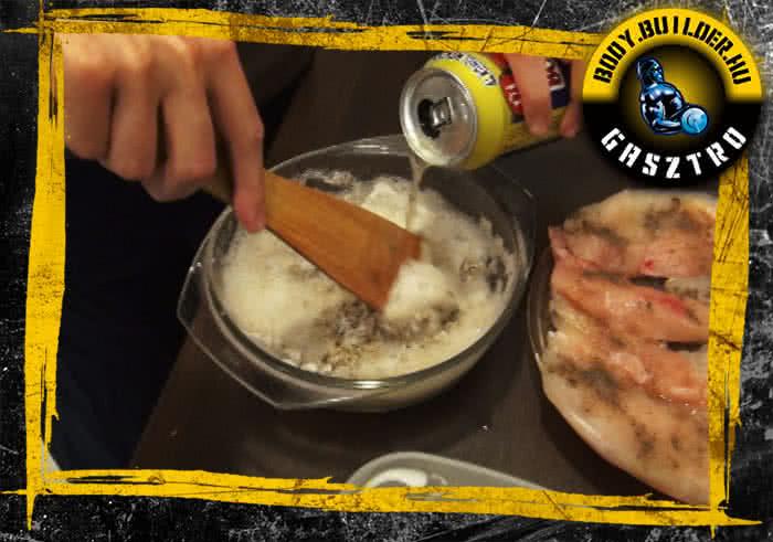 Sörtésztában sült csirkemell elkészítés - II. lépés