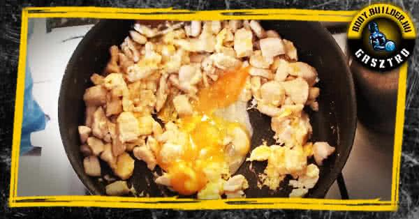 tojásos csirke elkészítése