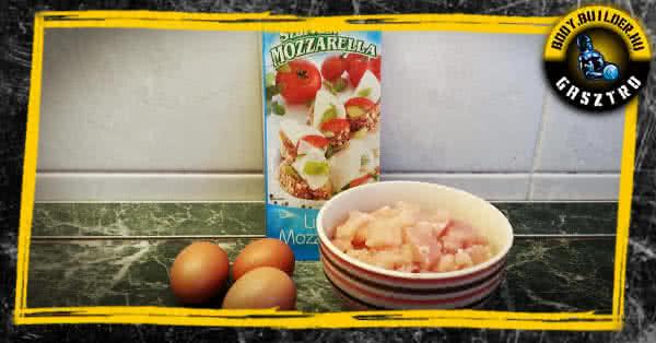 Hozzávalók - tojásos csirke