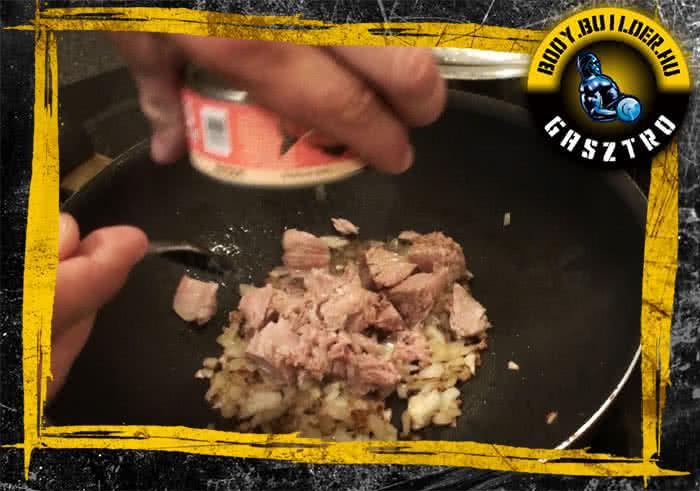 Tonhalas tészta recept elkészítés - I. lépés