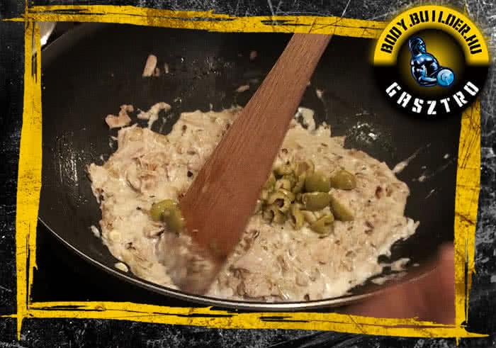 Tonhalas tészta elkészítés - II. lépés