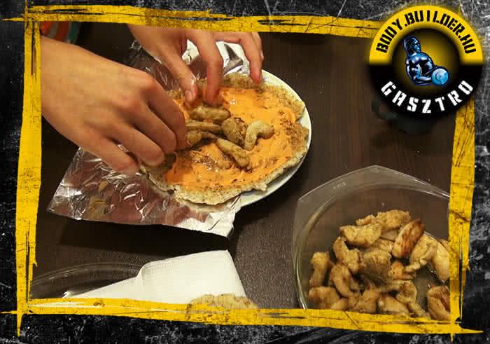 Diétás tortilla elkészítés - IV. lépés