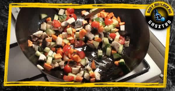 Vegetáriánus ebéd elkészítés