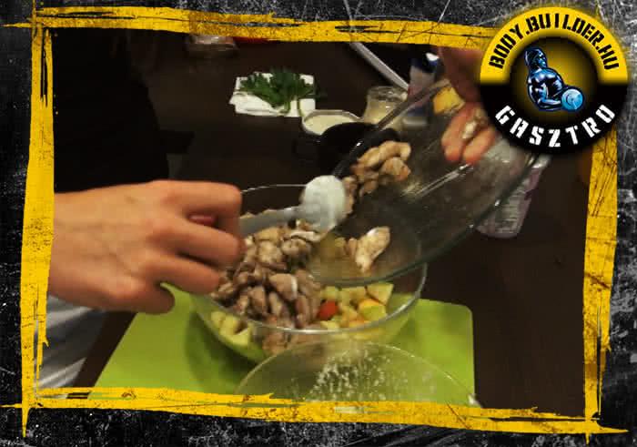 Waldorf saláta fehérjedúsan - elkészítés, III. lépés