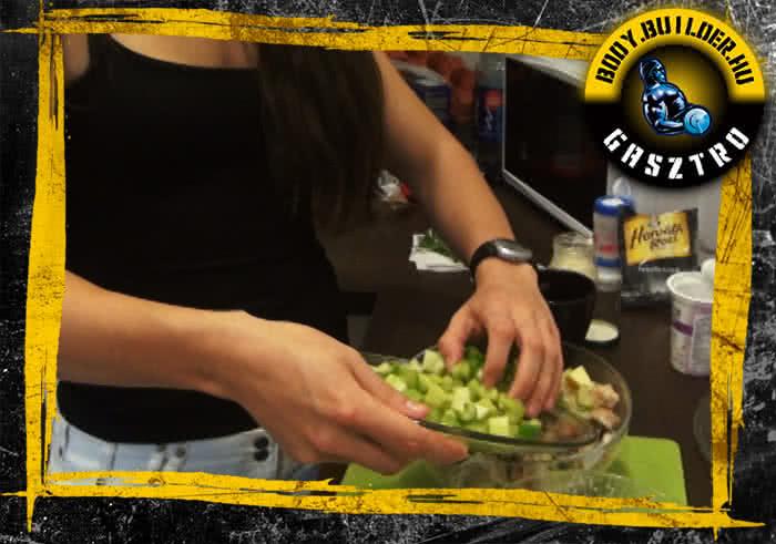 Waldorf saláta fehérjedúsan - elkészítés, IV. lépés