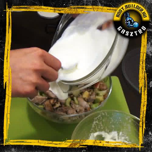 Waldorf saláta fehérjedúsan - elkészítés, V. lépés