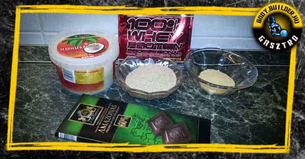 Diétás fehérjekocka recept - hozzávalók