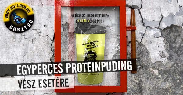 Egyperces proteinpuding vész esetére