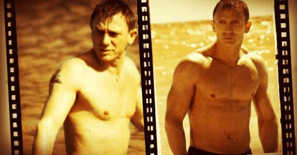Daniel Craig - jobb izomtelítettség, egy kicsit alacsonyabb testzsírszázalék