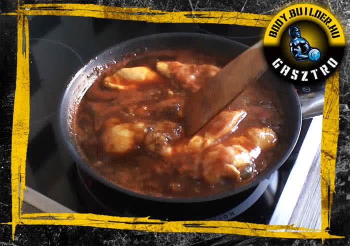 Kólában sült csirkemell recept elkészítés - II. lépés
