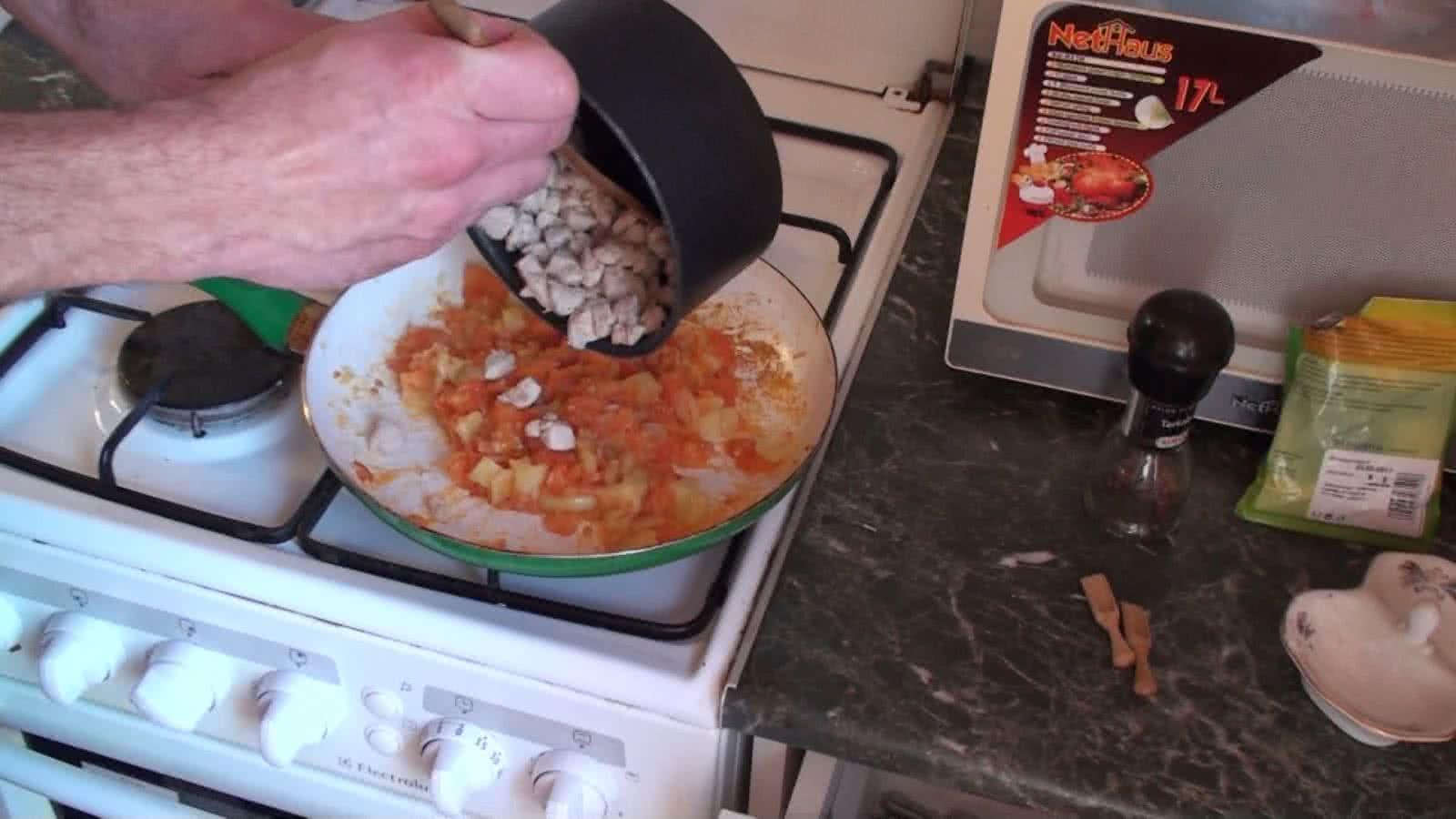 csirkés omlett recept elkészítés - II. lépés