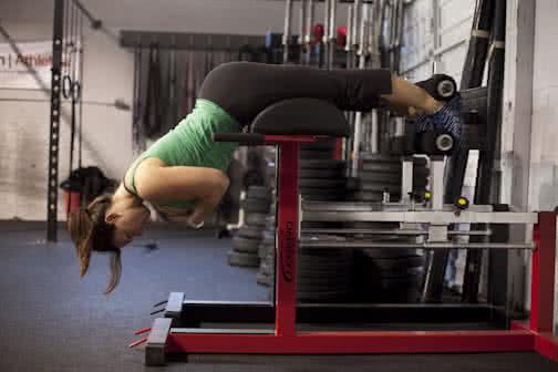 Női edzés - hiperhajlítás