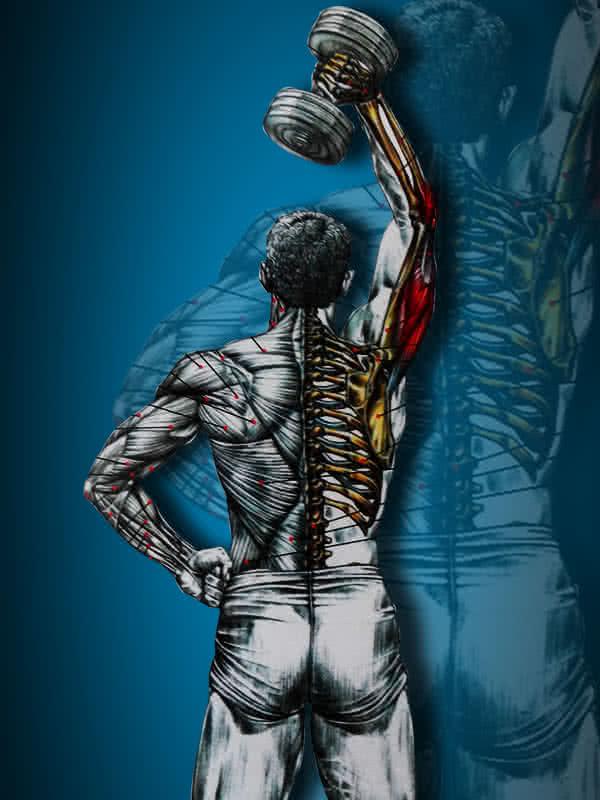 Tricepsznyújtás állva, váltott karral