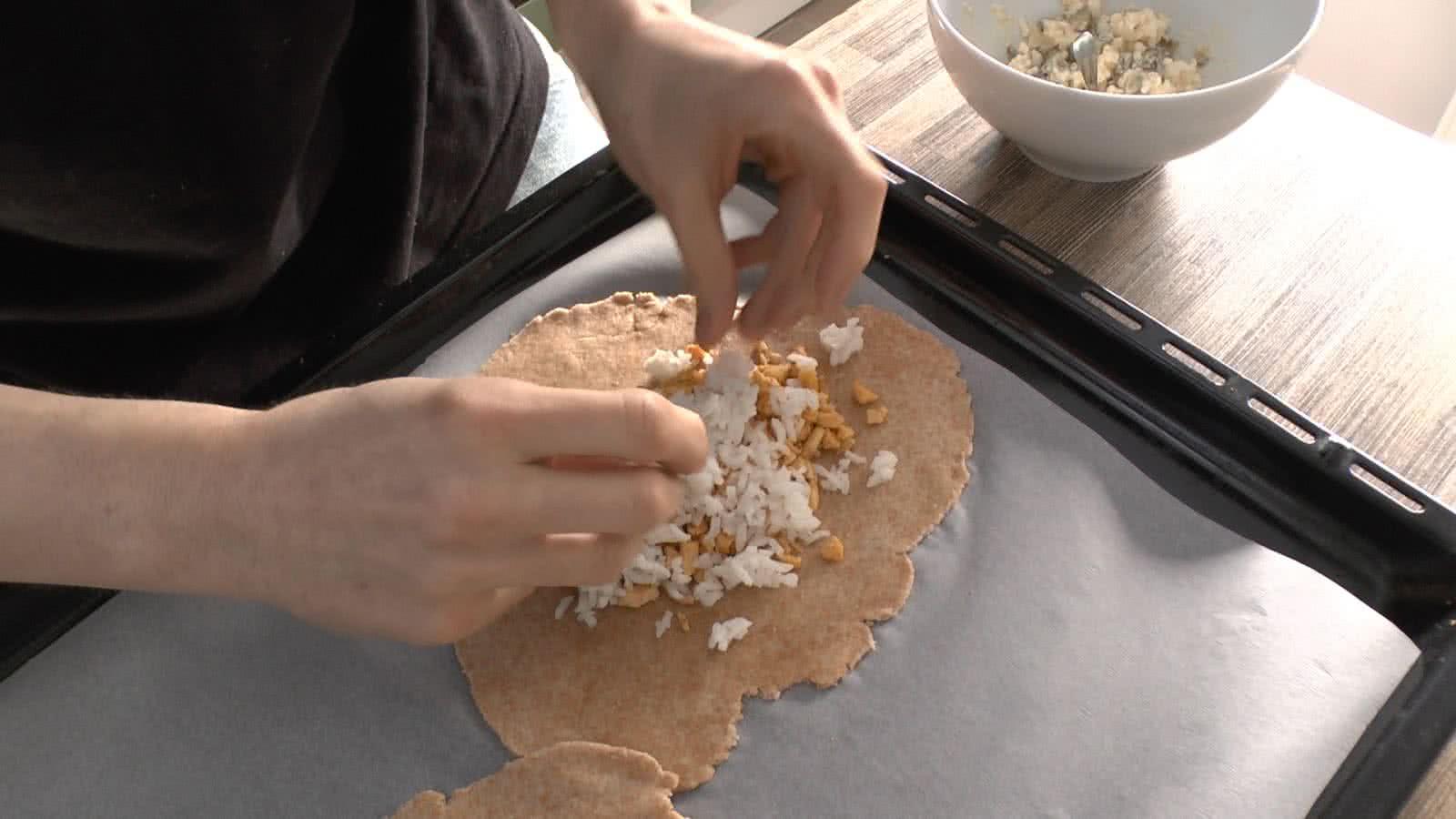 Csirkés párna recept elkészítés - 3. lépés