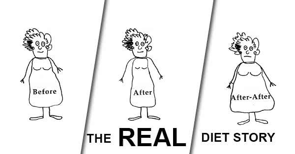 Ha visszatérsz a korábbi étrendedhez, ismét el fogsz hízni.