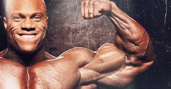 Phil bicepszén szemből egy bicepszpóznál látszik igazán, mennyire részletes.