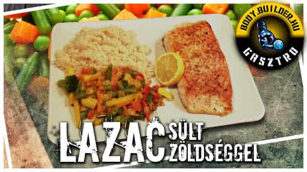 Lazac Steak sült zöldséggel és kuszkusszal