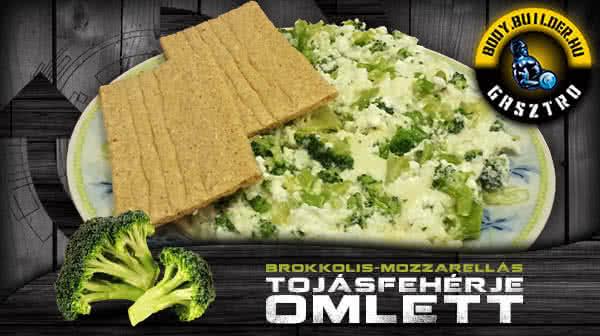 Brokkolis-mozzarellás tojásfehérje omlett
