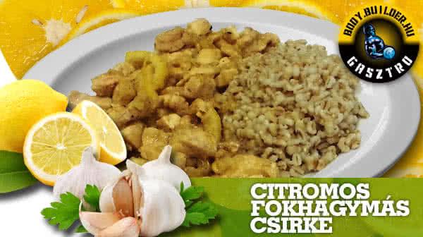Citromos-fokhagymás csirke