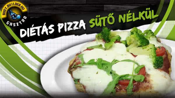 Diétás pizza sütő nélkül