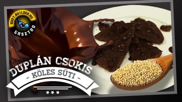 Duplán csokis köles süti