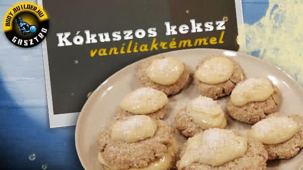 Kókuszos keksz vaníliakrémmel